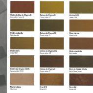 Terre d'ombre Sienne naturelle ocre marron pigment maron glaise Sienne calcinée Ocres de France