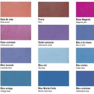 pigments naturels oxydes ocres de france rose violet bleu outremer bleu picard bleu charrette charette