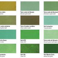 pigment naturel oxyde synthetique vert turquoise foret prairie printemps caca d'oie celadon