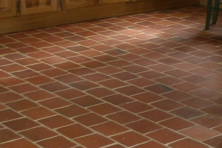 tomette terre cuite carrelage rouge tradition