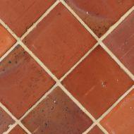 Carrelage terre cuite tomette carree rouge nuancee tradition Briqueterie dewulf allonne