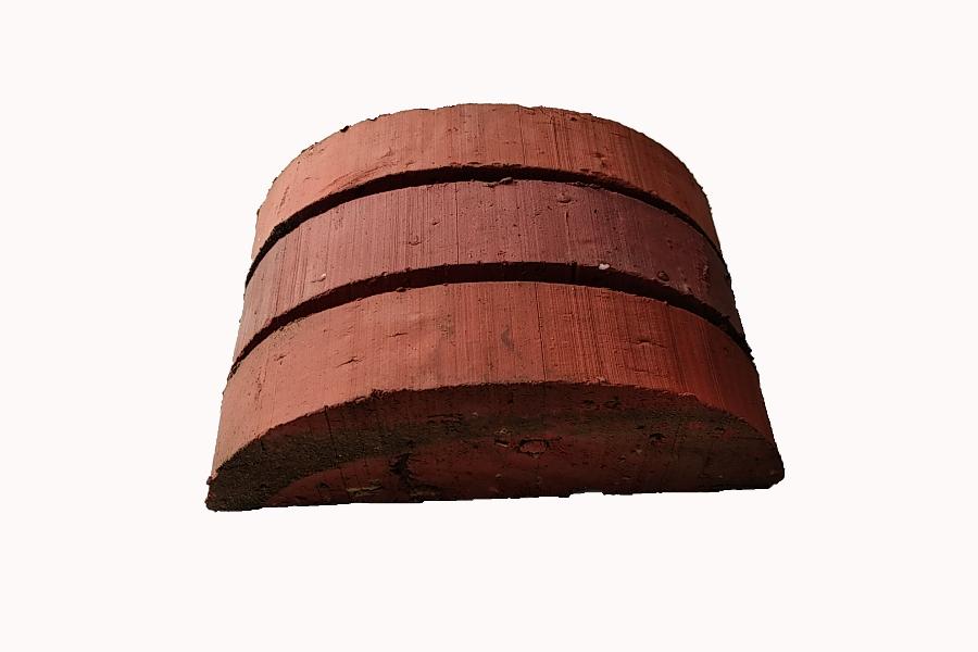 briqueterie dewulf allonne terre cuite chapeau de mur arrondi